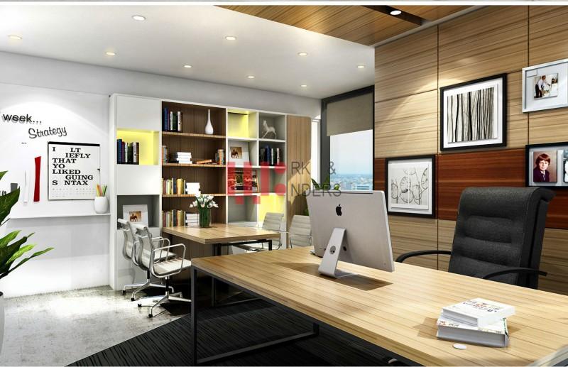 Đồ nội thất nằm ở vị trí tiện cho người lãnh đạo làm việc
