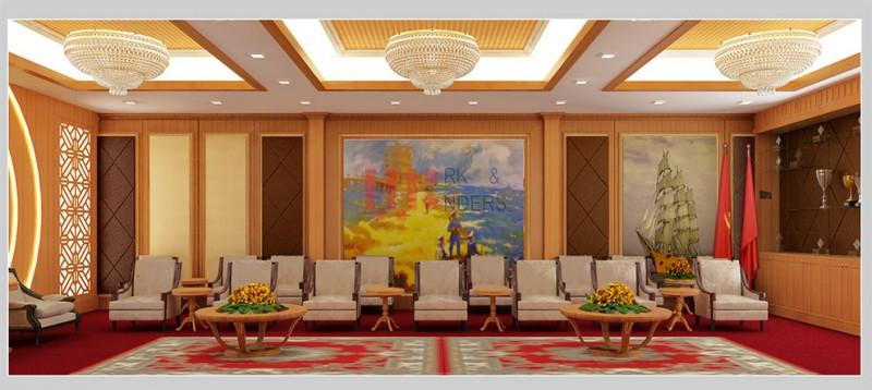 Thiết kế văn phòng - Thi công nội thất Bộ Tham Mưu Hải Quân