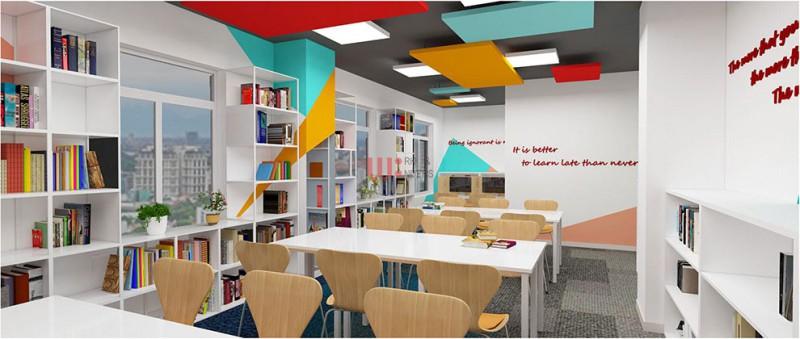 Thiết kế văn phòng - nội thất trường đào tạo Nghệ Thuật Quốc Tế
