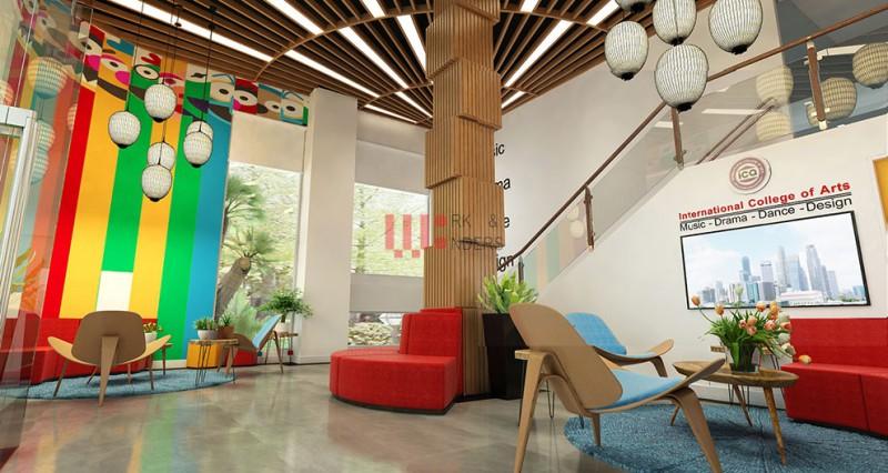 Thiết kế văn phòng – nội thất trường Đào tạo Nghệ thuật Quốc tế