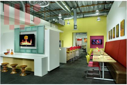 Nội thất văn phòng đầy màu sắc của El Pollo Loco