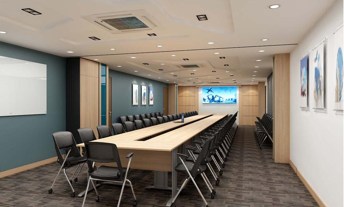 Thiết kế nội thất phòng họp hiện đại, tiện nghi