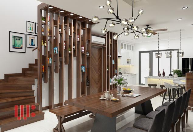 Nội thất phòng ăn hiện đại và sang trọng