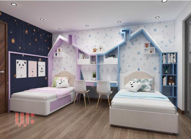 Thiết kế phòng ngủ trẻ em đẹp mắt và đáng yêu