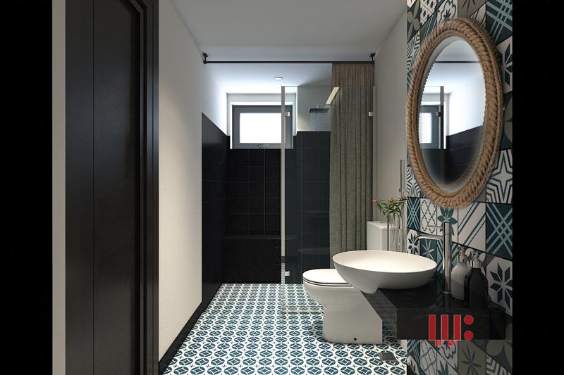 Thiết kế nội thất phòng tắm khách sạn đẹp và sang trọng