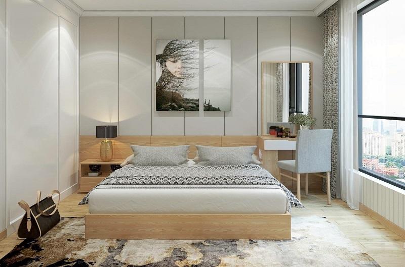 Nội thất phòng ngủ bằng gỗ công nghiệpMDF