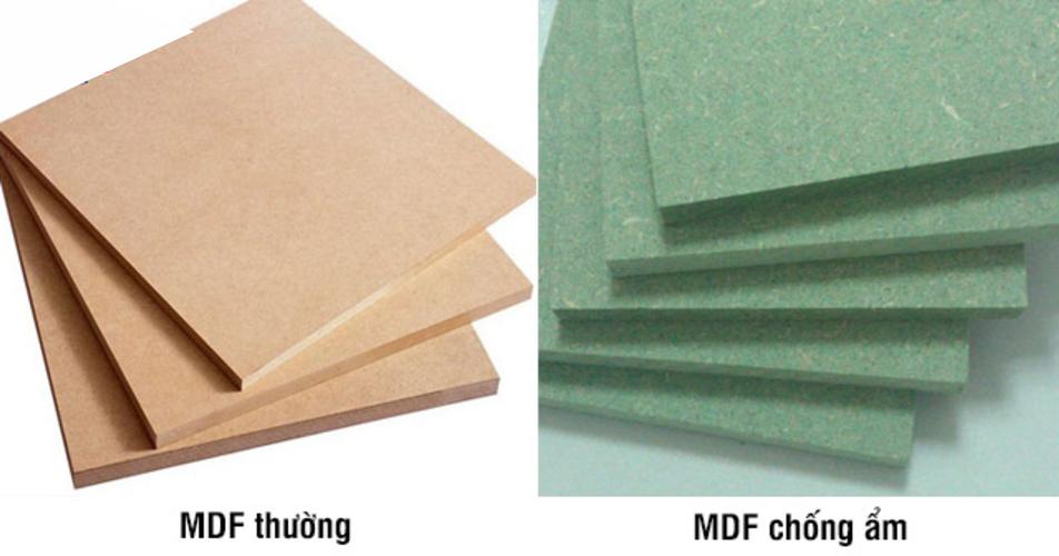 MDF thường và MDF chống ẩm