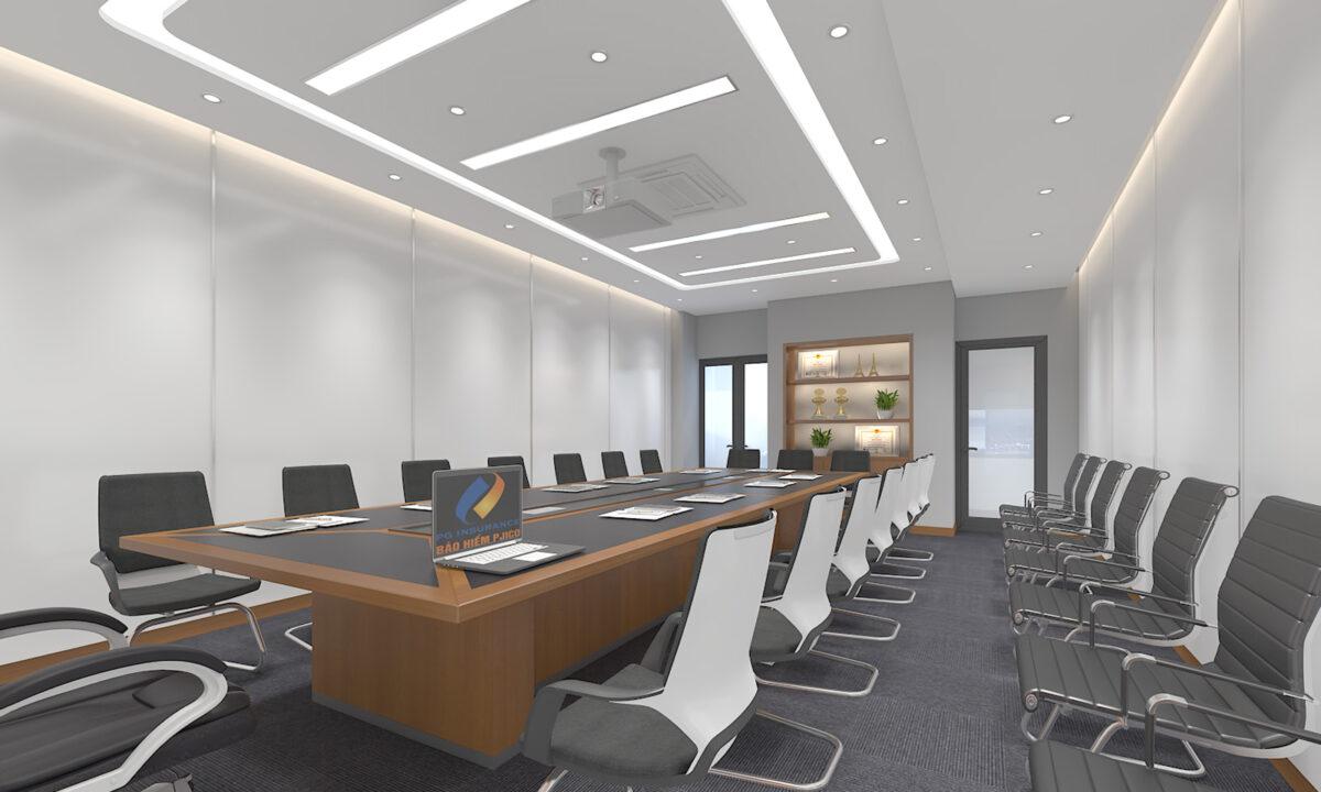 Thiết kế văn phòng tông màu sáng đẹp mắt