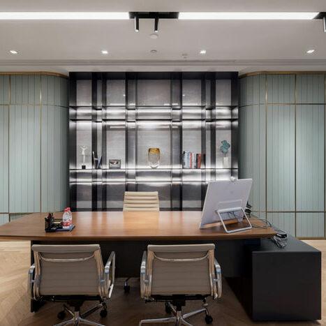 Thiết kế nội thất phòng quản lý cao cấp, sang trọng