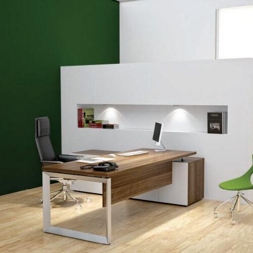 Mẫu bàn làm việc tối giản cho văn phòng thanh lịch