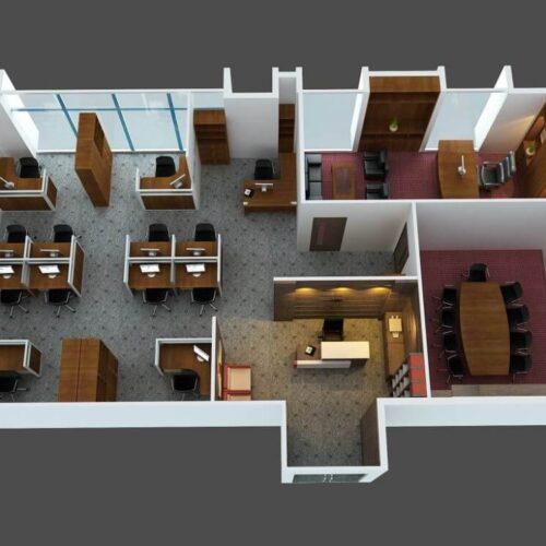 Thiết kế nội thất văn phòng căn hộ chung cư tối ưu không gian