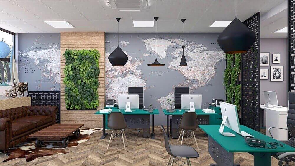 Thiết kế văn phòng công ty du lịch hấp dẫn khách đặt tour