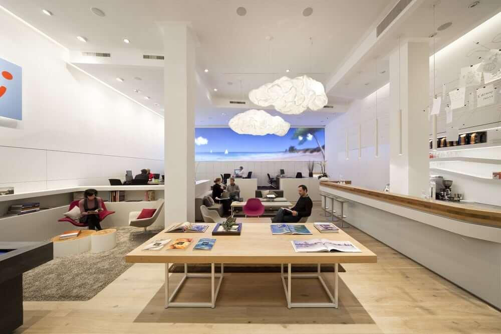 Một văn phòng công ty du lịch ở Berlin