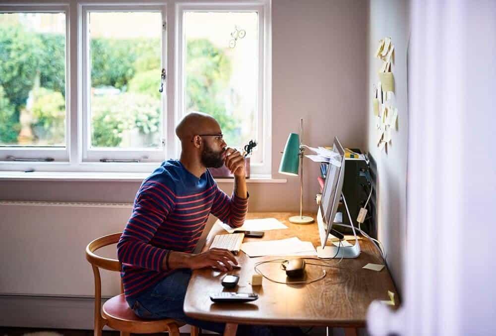 Thiết kế nội thất văn phòng làm việc tại nhà có diện tích nhỏ