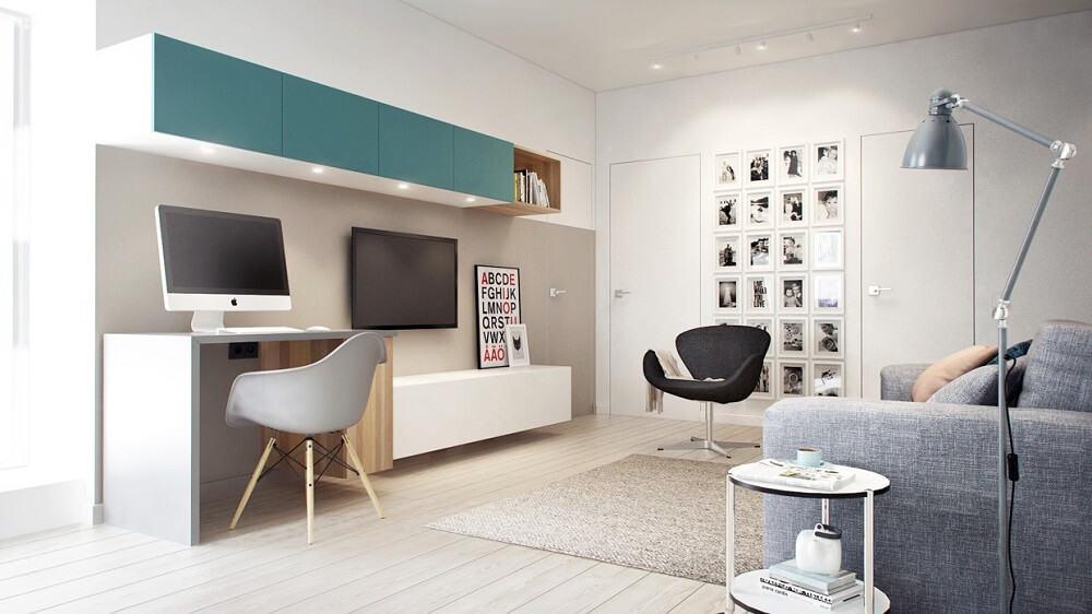 Thiết kế nội thất văn phòng làm việc tại nhà có diện tích lớn