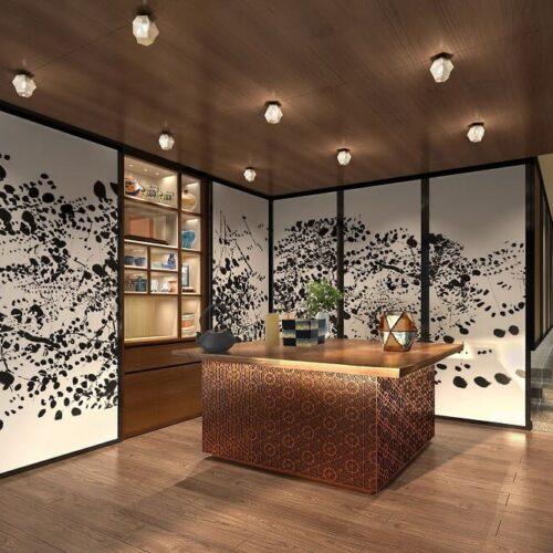 Thiết kế nội thất văn phòng phong cách Á Đông